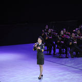 Military famous singer Liu Xiaona-theFamous and classicconcert Stock Image