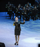 Military famous singer Liu Xiaona-theFamous and classicconcert Royalty Free Stock Images