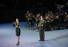 Military famous singer Liu Xiaona-theFamous and classicconcert Stock Photography