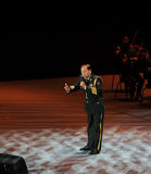 Military famous singer Xiong Qincai-theFamous and classicconcert Stock Image