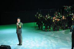 Military famous singer Yan Weiwen-theFamous and classicconcert Stock Photos