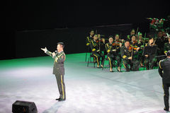 Military famous singer Yan Weiwen-theFamous and classicconcert Royalty Free Stock Photography
