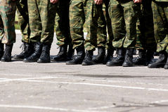Military feet Royalty Free Stock Photos