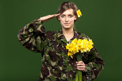 Military female Royalty Free Stock Photography