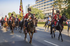 Military festive parade of the Croatian army Stock Image