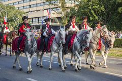 Military festive parade of the Croatian army Royalty Free Stock Photo