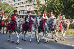 Military festive parade of the Croatian army Royalty Free Stock Photo