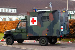 Military field ambulance. Dutch military field ambulance. Mercedes-Benz 290 Royalty Free Stock Photo