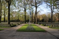 Military field of honour Grebbeberg where the dutch solders fallen in the first day of world war 2 are buried Stock Photos