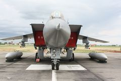 Military fighter aircraft at the airport Royalty Free Stock Image
