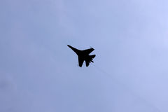 Military Fighter Jet Flying Solo Stock Images