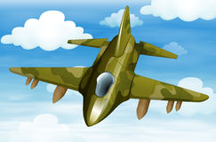 A military fighter jet. Illustration of a military fighter jet Royalty Free Stock Photography
