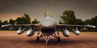 Free Military Fighter Jet, Ready For Take Off Royalty Free Stock Photo - 127835015