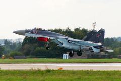 Military fighter Su-27 Stock Image
