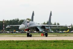 Military fighter Su-27 Royalty Free Stock Image