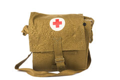The military first aid kit isolated Stock Photography
