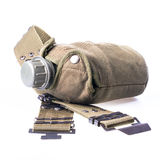 Military flask Stock Photography