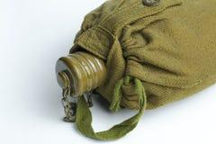 Military flask on white background. royalty free stock photos