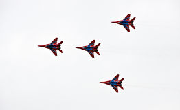 Military flight demonstration on Air Show 2009 Royalty Free Stock Photography