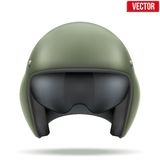 Military flight helicopter helmet. Vector. Royalty Free Stock Photo