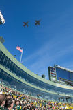 Military Flyover, Lambeau Field, Green Bay Packers Royalty Free Stock Image