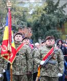 12/01/2018 - Military formations celebrating the Romanian National Day in Timisoara, Romania royalty free stock photos