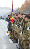 12/01/2018 - Military formations celebrating the Romanian National Day in Timisoara, Romania stock images