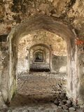 Military Fort Hallway stock image