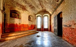 Military fort interior room Stock Images