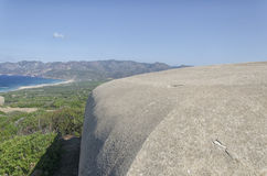 Military fortifications along the coast of the Sardinia royalty free stock photo