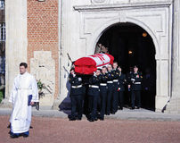 Military Funeral of a WW1 Canadian Soldier Stock Photography