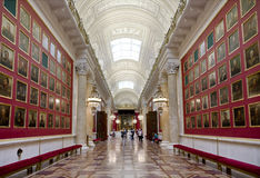 Military gallery with portraits of Russian generals, participants in the war against Napoleon in 1812. Hermitage, Military gallery with portraits of Russian Royalty Free Stock Photography