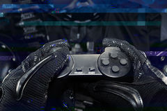 Military gamepad first person view. Stock Photography