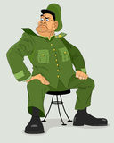 Military general on chair Royalty Free Stock Photos