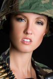 Military Girl Royalty Free Stock Photo