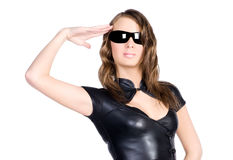 Military girl Royalty Free Stock Image