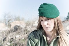 Military girl Stock Photos