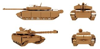 Military Gold Tank 03 Stock Photography