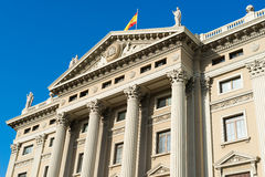 Military government building barcelona Royalty Free Stock Photo