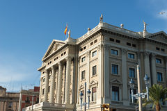 Military government building barcelona Royalty Free Stock Photos