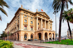 Military government building in Barcelona Spain Royalty Free Stock Photography
