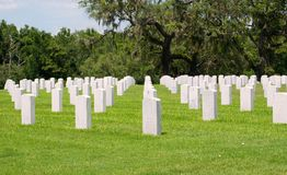 Military Graves Royalty Free Stock Photography