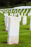 Military graveyard Royalty Free Stock Image