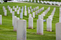 Military graveyard Stock Images