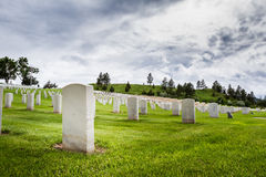 Military graveyard Royalty Free Stock Photos