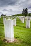 Military graveyard Royalty Free Stock Photography