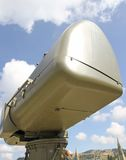 Military green camouflage huge radar for reconnaissance of enemy Royalty Free Stock Photos