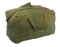 Military green canvas duffel bag Stock Photo