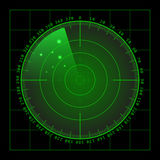 Military green radar screen with target. Futuristic HUD interface. Stock vector illustration. vector illustration