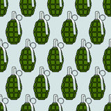 Military grenade pattern Royalty Free Stock Photography